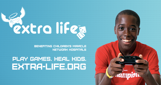 Extra Life: Play Games to Help Heal Local Kids!: November 7
