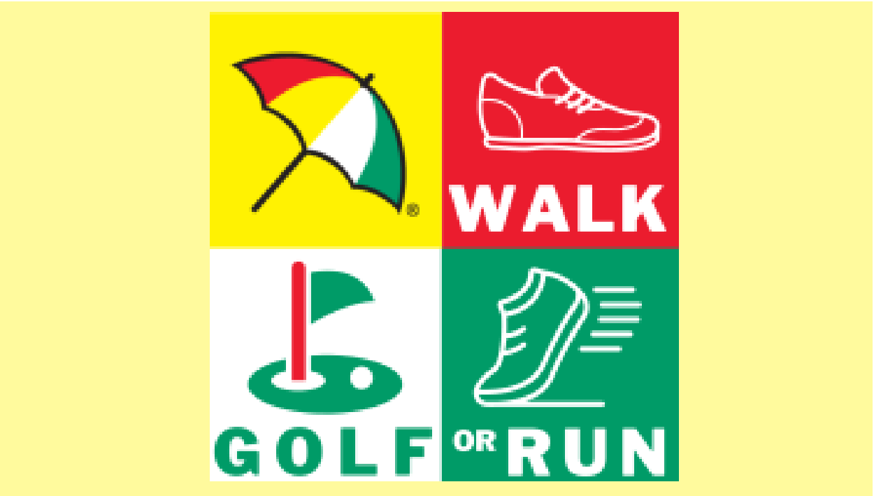 Arnie's Challenge: Walk – Golf – Run!